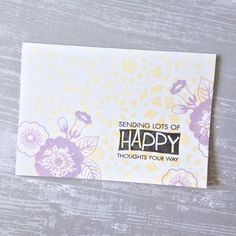 I'm sending lots of happy thoughts your way! | Small T Creations #handmadecard