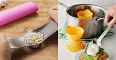 """Don't let the kitchen burn you. From oven shields to garlic peelers to no-brainer egg poachers, here are all the products you need to turn """"I suck at cooking"""" into """"I succEED at cooking!"""""""