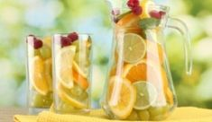 Fat Flush Drink --  Instructions: In a BPA-free pitcher add the following: 1/2 gallon filtered water 1 orange sliced 1 lime sliced 1 lemon sliced 1/3 cup grapes 8 mint leaves Let the fruits infuse for 1 hour in the fridge Optional: Add a few raspberries for decoration You can keep up to 2 days Drink 2 to 3 times a day