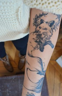 fox. ,#tattoo