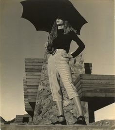 Harper s Bazaar - Fashion Claire McCardell - Frank Lloyd Wright House, AZ #1. FROM THE PRIVATE COLLECTION OF DIANA VREELAND. | From a unique collection of black and white photography at http://www.1stdibs.com/art/photography/black-white-photography/