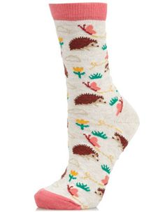 All Over Hedgehog Socks | Camel | Accessorize