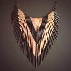 Fringe Necklace - Copper - Porcupine Quill inspired  - Copper Jewelry - Small Version- handmade in Austin, Tx by JamieSpinello on Etsy https://www.etsy.com/listing/84519016/fringe-necklace-copper-porcupine-quill