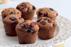 Bezlepkové muffiny s brusinkami Cap Cake, Sweet Cupcakes, Elegant Nails, Croissants, Sweet Recipes, Muffins, Cheesecake, Food And Drink, Gluten Free
