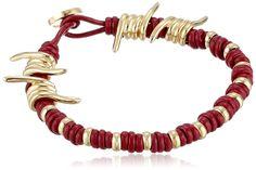 Amazon.com: Vivienne Westwood Men's Cherry Adissa Extra Large Cord Bracelet: Jewelry