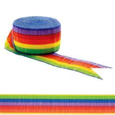 Rainbow Crepe Streamer 81ft - Party City