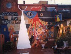 Roberto Broullon Pinturieto Mural en el taller de La Boca