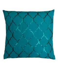 Another great find on #zulily! Turquoise Sequin Square Throw Pillow by THRO #zulilyfinds