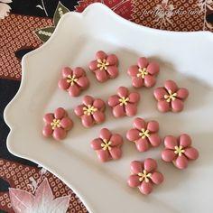 桃 アイシングクッキー icing cookies