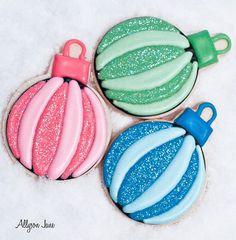 Christmas ornament cookies - paint on rocks instead