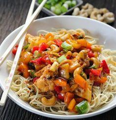 Recetas caseras de cocina: Coliflor con salsa KUNG PAO