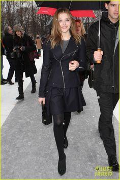 Love Chloe Moretz's all black look