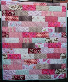 quilt idea - best yet - structured, yet random. But would I need more fabric?