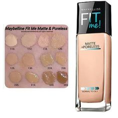 Maybelline Fit Me Matte + Poreless swatches