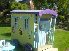 Feed your child's imagination with this wonderful new creation from The Playhouse Company.Children love spaces they can call their own and our new gypsy caravan not only provides a space that is built with a child's stature in mind, it also provides promise of travel and adventure that will feed childrens' imaginations and keep them busy all summer long.There is an ever popular stable door to the front, two single windows on the left hand side and another window at the back making...