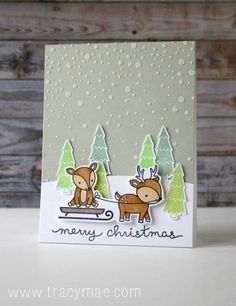 Tracy Mae Design: Holiday Card Series 2015 Day #20 - Lawn Fawn + Simon Says Stamp Card