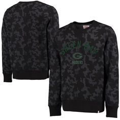Green Bay Packers '47 Brand Stealth Camo Soft Washed Sweatshirt - Black