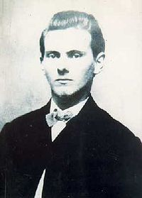 Jesse James  (September 5, 1847 – April 3, 1882) was an American outlaw, gang leader, bank robber, train robber, and murderer from the state of Missouri and the most famous member of the James-Younger Gang. Already a celebrity when he was alive, he became a legendary figure of the Wild West after his death.