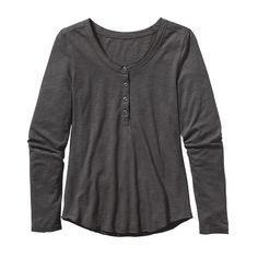 Patagonia Women's Long-Sleeved Necessity Henley Top - Forge Grey (FGE)