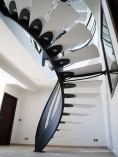 Escalier design Art Nouveau dessiné et réalisé par Jean Luc Chevallier pour La Stylique.
