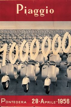 Publicité Vespa Un Million