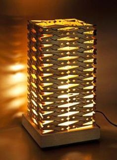DIY Clothespin Lampshade