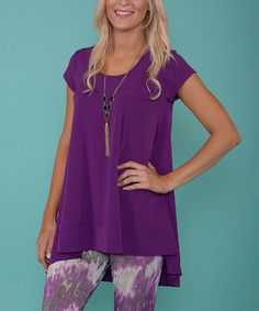 Another great find on #zulily! Fuchsia Cap-Sleeve Tunic #zulilyfinds