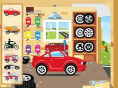 FREE app for kids (limited time offer): Kids CARS for iPhone & iPad Car Games For Kids, Kids Cars, App Of The Day, Kids Tv, Free Iphone, Creative Kids, Car Wash, Game Character, Childcare