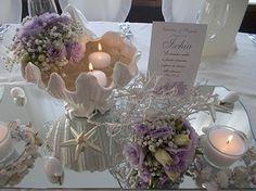 Matrimonio in tema marino con conchiglie, stelle marine e fiori estivi... - Santa Lucia Meeting's Club