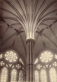 Sala capitular de la catedral de Salisbury (decorated style)