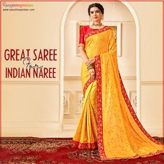 Hansa yellow silk saree online from eanythingindian.com. We have huge collection of yellow fashion saree for haldi and wedding functions. ✯ Best Price ✯ Express Shipping ✯ Free Shipping. #eanythingindian #beindian #buyindian #ethnic #saree #ethnicwear #wednesday #fashion #wedding Cotton Lehenga, Satin Saree, Art Silk Sarees, Silk Sarees Online, Simple Lehenga, Yellow Saree, Party Wear Lehenga, Latest Designer Sarees, Looks Chic