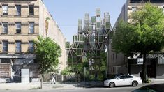 These vertical farms could turn Brooklyn into an agricultural oasis Transformers, Oasis, Brooklyn, Tree Structure, Cube Design, Glass Cube, Property Values, Urban Architecture, Farms