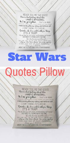 Star Wars Quotes Pillow - Star Wars Gift #starwars #home #pillow