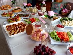 High Tea Bridal Shower via PaisleyJade http://www.paisleyjade.com/2014/02/on-weekend-i.html #hightea #bridalshower #food #delicious #pretty #pink #bride