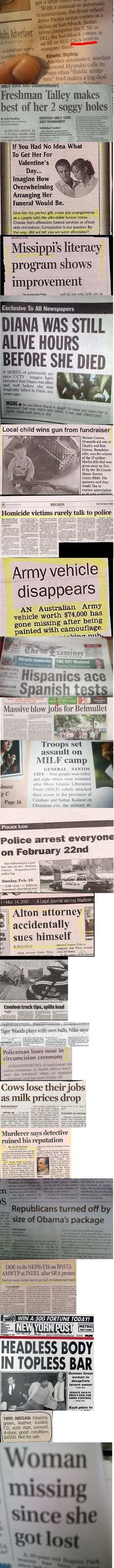 23 Funny fails in newspapers