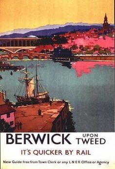 Vintage LNER Berwick Upon Tweed Railway Poster A3/A2 Print