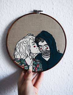 custom portrait,unique wedding gift,personalized wedding gift,wedding gifts for couples,hoop art,personalized gift,personalized home decor