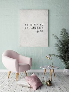 Printable Wall Art Be kind to one another Bible verse Light