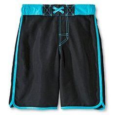 Boys' Solid Swim trunks - Cherokee® - Ebony