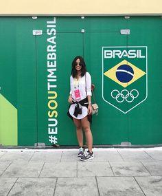 #EuSouTimeBrasil !!! 🇧🇷💥 Look de ontem pra conhecer o Centro de Treinamento + Natação. Que tal?! #ootd #Rio2016 #pgnosjogosolimpicos