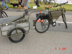 Swiss Army Bicycle with utility trailer
