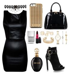 night out party by aurel-awaloei on Polyvore featuring polyvore, fashion, style, Relaxfeel, FOSSIL, Rebecca Minkoff, MAC Cosmetics, Roberto Cavalli, women's clothing, women's fashion, women, female, woman, misses and juniors