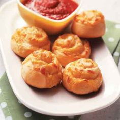 Cheese rolls recipe that are great plain, but try dipping them in pizza sauce for an extra treat.