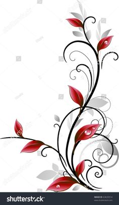 Find Autumn Ornament stock images in HD and millions of other royalty-free stock photos, illustrations and vectors in the Shutterstock collection. Art Floral, Motif Floral, Floral Design, Glass Painting Designs, Paint Designs, Phenix Tattoo, Kids Watercolor, Rose Vines, Flower Tattoo Shoulder