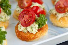 Tomato & feta pesto bites