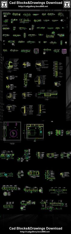 Interior Design Details,Interior Design Autocad drawings downloadable in  dwg files,Architecture & interior