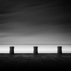 Platform Liquid IV – Bulkhead http://mabrycampbell.com #sweden #øresund #longxposure #mabrycampbell #blackandwhite #seascape #westernharbor #malmo #image #photo
