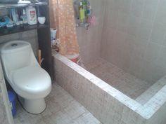 Concrete tub concrete shower tubs and showers stone soup - Como hacer microcemento ...