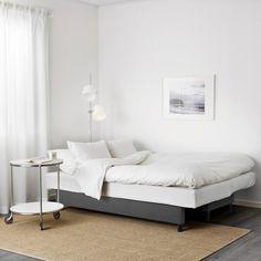 ASARUM Knisa dark grey, 3-seat sofa-bed - IKEA 3 Seat Sofa Bed, Ikea Sofa Bed, Deep Seat Cushions, Patio Chair Cushions, Sofa Beds, Cama Ikea, Canapé Convertible Design, Small Grey Bedroom, Plastic Hinges