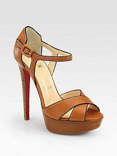 #Christian Louboutin Sporting Leather Platform Sandals